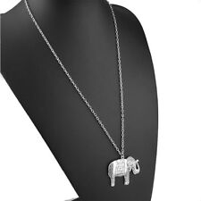 Size Brand Sweater Elephants 37*49mm With Silver Necklace Pendant Chain