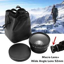 52mm 0.45x Wide Angle Marco Close Up Lens For Nikon AF-S DX 18-55mm 55-200mm