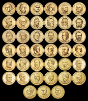 """COMPLETE Presidential Dollar Set """"Brilliant Uncirculated"""" US (39 Coins Total) $$"""