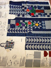 Cranston Dream Spinners Denim Blues Sweatshirt Jacket Fabric Panel