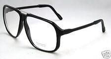 New Black Large Mens Clear Lens Frames Glasses Fashion Nerd Club Greek Pilot