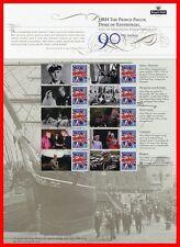 2011 Hrh Prince Philip 90th Birthday Commemorative Sheet. Pack No Cs14.