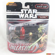 """Star Wars Unleashed 2"""" Order Sixty-Six Jedi Masters battle pack 4 figures - worn"""
