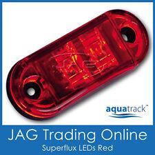 12V SUPERFLUX LED RED MARKER LIGHT/CLEARANCE LAMP - Boat/Trailer/Truck/Caravan