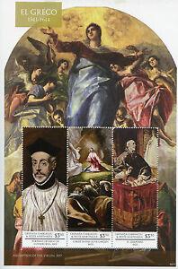 Grenadines Grenada Art Stamps 2015 MNH El Greco Diego de Covarrubias 3v M/S I