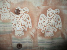 vtg 60s 70s JC PENNEY THUNDERBIRD SHIRT Mod Disco Native American Indian Totem M