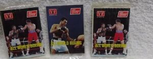 ** 1991 - AW SPORTS - BOXING Trading Cards - Lot of 3 UnopeNed SeaLEd PaCkS
