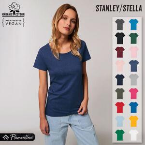 Womens Organic Cotton Essential T-Shirt Stanley Stella Premium Straight Fit Top