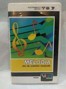 Cartouche Melodia pour thomson to7 et m05 1982 (RARE VINTAGE) ac boîte et notice