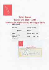 PETER ROGERS EXETER CITY 1978-1984 ORIGINAL HAND SIGNED CUTTING/CARD
