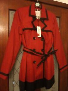 Principles Petite Red & Black Mac Size 12 New with Tags