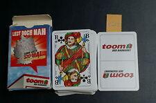 1209) Skat Karten mit Werbung: Baumarkt Toom, unbespielt in OVP.