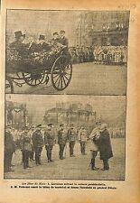 Cérémonie Metz Président Poincaré Baton de Maréchal Petain WWI 1918 ILLUSTRATION
