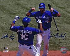 Toronto Blue Jays Edwin Encarnacion Jose Bautista Dual Signed MLB 810 Photo Pic