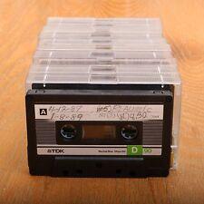 11 TDK D90 90 Minute Cassette Audio Tapes Normal Bias