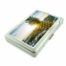 Beach Pineapple Em5 Cigarette Case with Built in Lighter Metal Wallet