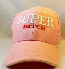 Pink, White, Red Womens One Size Fits Most Super Bitch Funny Hat Gag Gift
