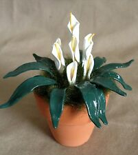 Handmade White Cow Lilies for the Doll House