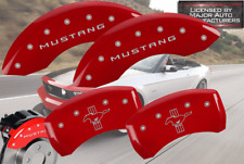 2011-2014 Ford Mustang Pony Front+ Rear MGP Red Brake Disc Caliper Covers Cover