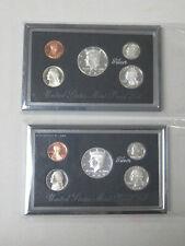 US (2) Two 1997 Silver PREMIER PROOF SETS - NO BOXES or COA; Greysheet Bid $60