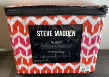 Steve Madden Brye Orange Pink White Microfiber FULL SHEET SET 4 Piece