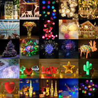 LED Wire Copper Fairy String Lights Lamps Cork Rose Wedding Xmas Party DIY Decor