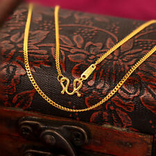 "20"" Fine 999 24K Yellow Gold Necklace / Men&Women Curb Link Chain Necklace /3.4g"
