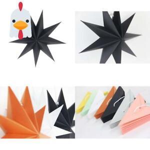 Sunbeauty 30Cm Papier Stern Schwarz 3Er Set Faltsterne Dekoration Neuneck Weihna
