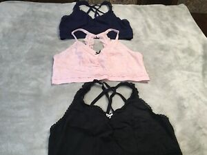 Womens Cacique Bra Lot of 3 Size 18/20 Pink, Navy, and Black