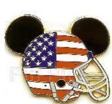 Disney Pin 67264 Mickey Ears American Flag Football Helmet ARTIST PROOF AP LE !