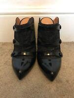Kurt Geiger Black High Heeled Shoes UK Size 4  Smart Formal Pointed Open Back
