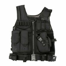 Tactical Airsoft Molle Combat Assault Vest Hunting Wargame Duty Gear Vest Black