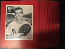 1950 Phillies Bulletin Pin Up Set Of 26 mounted nicely