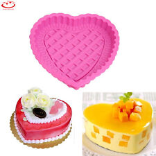 "9"" Large Heart Shape Silicone Cake Muffin Bread Pastry Baking Mold Pan Bakeware"