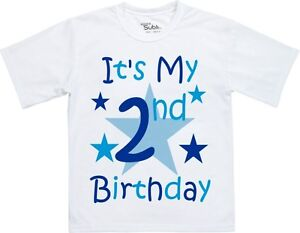 Personalised Children's Kids Boys Birthday T-Shirt Any Age Name (Front & Back)