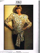 Publicité Advertising 1986 Haute Couture Jiki Créations