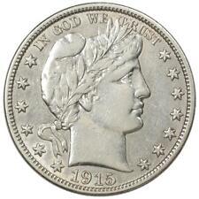 1915 Barber Half Dollar Choice AU Low Mintage Key Date MM010