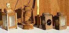 4 alte uralte Lampen zum Herrichten