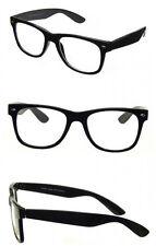 Black Gloss Optical Frames Clear Lens Glasses Geek Nerd Retro Vintage Style RF03