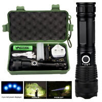 High Power 40000Lumens XHP50 Zoom Flashlight Tactical Flashlight Military Torch