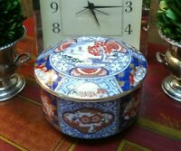 Darling Traditional Japonesque Imari Ink Box Chinoiserie Ginger Tea Temple Jar