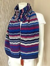MISSONI MULTI STRIPE & SIGNATURE ZIGZAG SCARF MADE IN ITALY BNWT