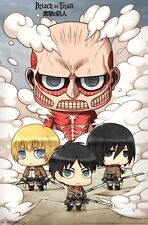 ATTACK ON TITAN - CHIBI - VIDEO GAME POSTER - 22x34 MANGA 14821