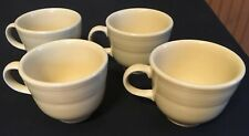Ivory Fiesta Coffee Cup Beautifully Ringed Old Classic Color Reissue! 4 Count