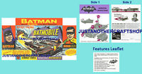 Corgi Toys 267 Batman Batmobile Instruction Leaflet & Poster Advert Shop Sign