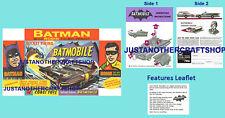 Corgi Toys 267 Batman Batmobile Instruction Leaflet & Poster Advert Shop Sign
