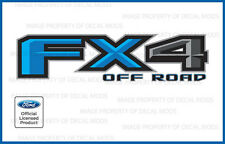 set of 2: 2018 Ford F250 F350 FX4 Off Road Decals Stickers Light Blue FLTBLU Bed