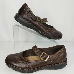 Earth Origins Size 9.5 Cranmore Mary Jane Brown Leather Comfort