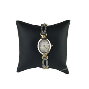 """Pillow Display Black Faux Leather Pillow Display Black Watch Pillow Display 4x4"""""""