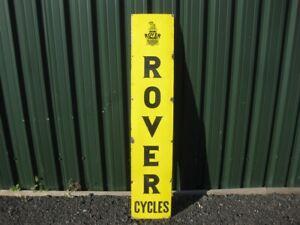 46038 Old Vintage Antique Enamel Sign Bike Shop Advert Rover Bicycles LARGE